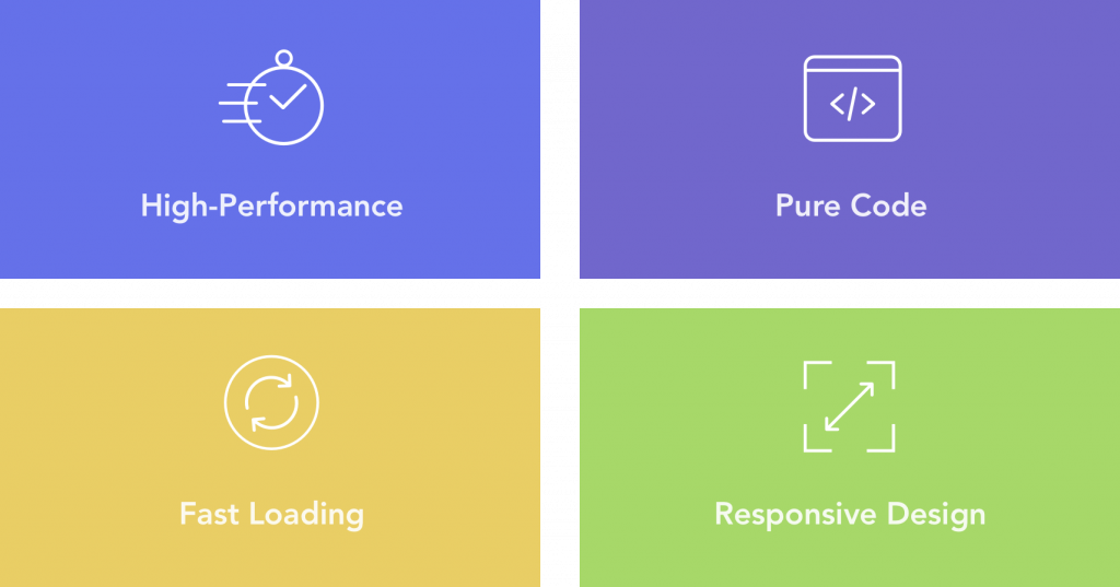 High-Performance, Pure Code, Fast Loading and Responsive Design