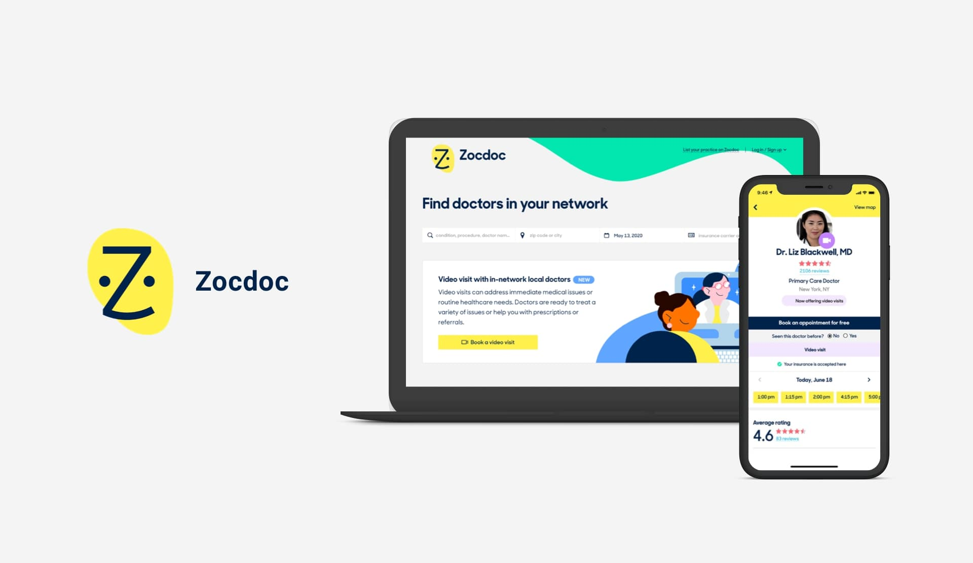 Zocdoc doctor appointment app