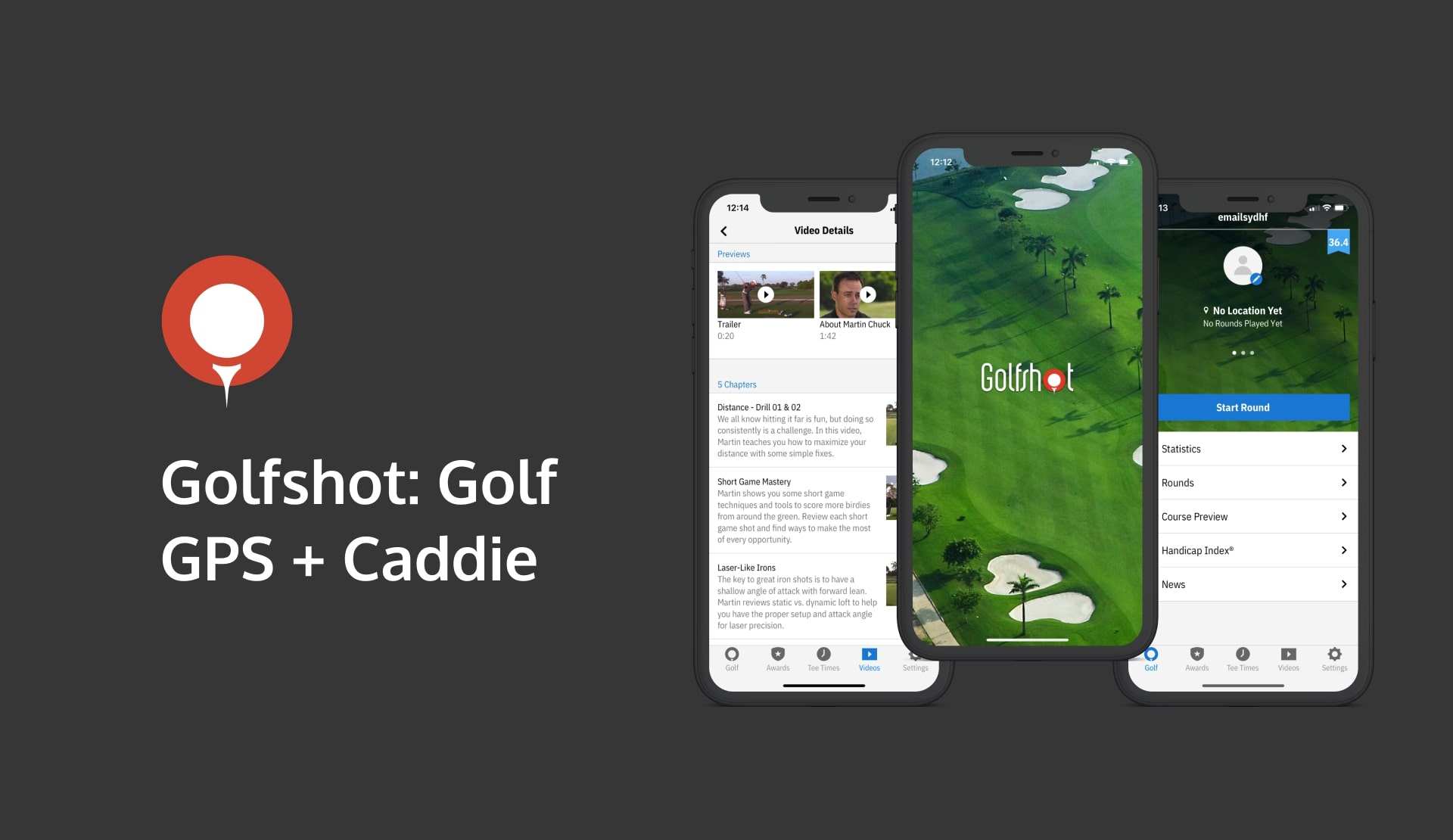 Golfshot - an augmented reality for golf workout app